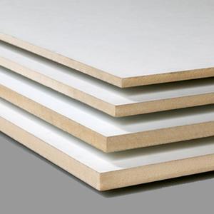 MDF GF02-05 Topkwaliteit MDF met lakdraagfolie Wit overlakbaar mat 2800x2070x32mm.
