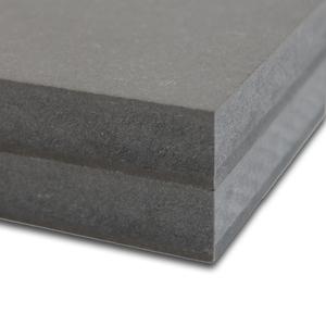 MDF door-en-door gekleurd Zwart D710 2800x2100x25mm.