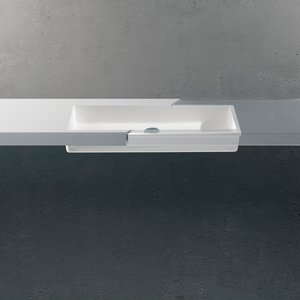 Betacryl wastafel Classic White 0-100 BB R 618 TP ovl 697x304x81mm.