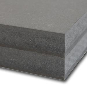 MDF door-en-door gekleurd Vochtwerend V313 Zwart Blank gelakt D720 3050x1220x18mm.